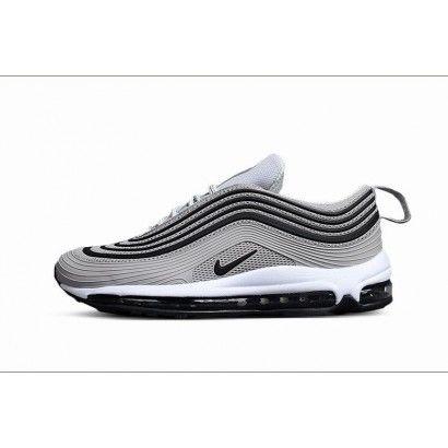 Hommes Chaussure Nike Air Max 97 Gris Noir Blanc #AirMax97