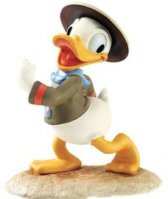 WALT DISNEY CLASSIC COLLECTIONS DONALD DUCK PAPERINO SCOUT  PORCELLANA