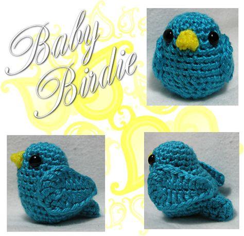 Baby Bird Amigurumi - Link to Free Crochet Pattern