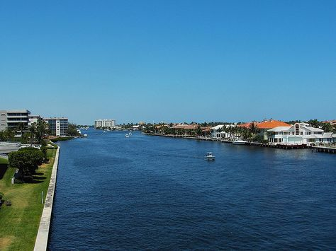 Pricey Housing Along The Intercoastal In Delray Beach Florida