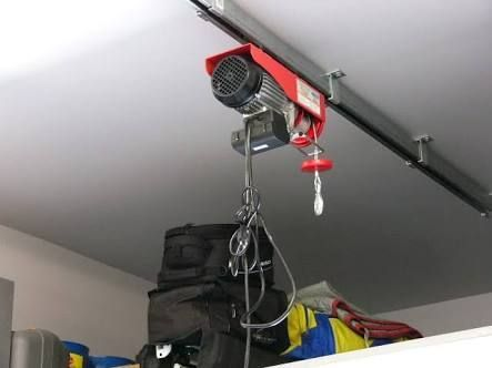 Image result for overhead hoist track garage | Projects to