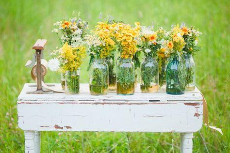 sweet vintage floral arrangment