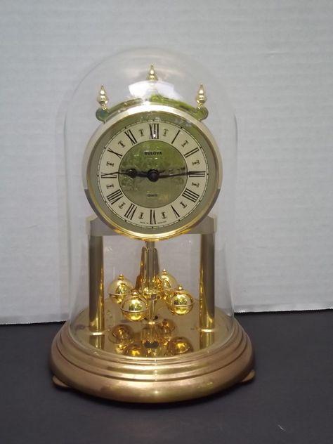 Bulova Quartz Anniversary Mantle Clock Made In Germany Mantle Clock Clock Tick Tock Clock