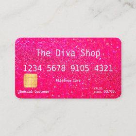 Credit Card Zazzle Com Credit Card Design Zazzle Business Cards Pink Business Card