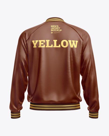 Download Men S Leather Bomber Jacket Mockup In Apparel Mockups On Yellow Images Object Mockups Mens Leather Bomber Jacket Leather Bomber Jacket Leather Flight Jacket