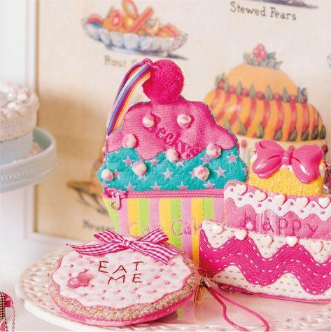 カラフルで可愛いお菓子は大好き とてもかわいいカップケーキのポーチになりました バッグにつけるのもおすすめです monederos carteras ninos