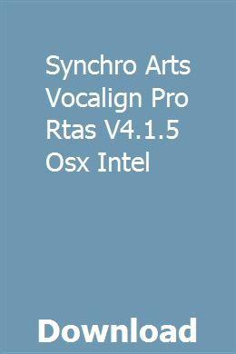 vocalign pro 4 crack mac