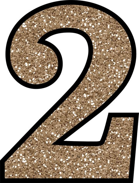 Glitter Without The Mess! Free Digital Printable Glitter Numbers 0 - 9: Glitter Number 2 To Print
