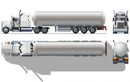 Vector Hi Detailed Tanker Semi Truck Stock Vector Aff Tanker Detailed Vector Stock Ad Kamyon Arac Oyuncak