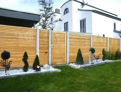 Trend-Holz Vertriebs GmbH, Lärchenholz für Ihren Garten exteriér - sichtschutz aus holz gartenzaun bauen