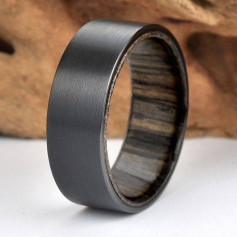 Black Tungsten Carbide Sister Love Ring 8mm Wedding Band Anniversary Ring for Men and Women Size 10
