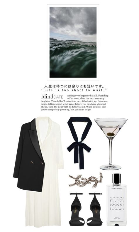 """Blind date - White dress"" by kelly-m-o ❤ liked on Polyvore featuring Agonist, Chloé, Yves Saint Laurent, Dartington Crystal, women's clothing, women, female, woman, misses and juniors"