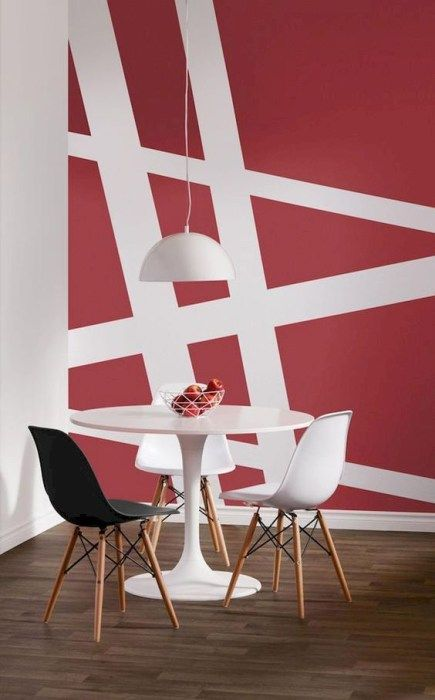 12 Diy Wall Painting Ideas To Refresh Your Home Godiygo Com Diy Wall Painting Wall Painting Decor Geometric Wall Paint