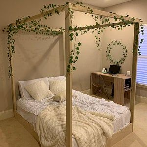 Wood Canopy Bed, Twin Canopy Bed, Canopy Bed Curtains, Canopy Bed Frame, Canopy Bedroom, Full Size Beds, Full Size Canopy Bed, Full Beds, Full Bed Frame
