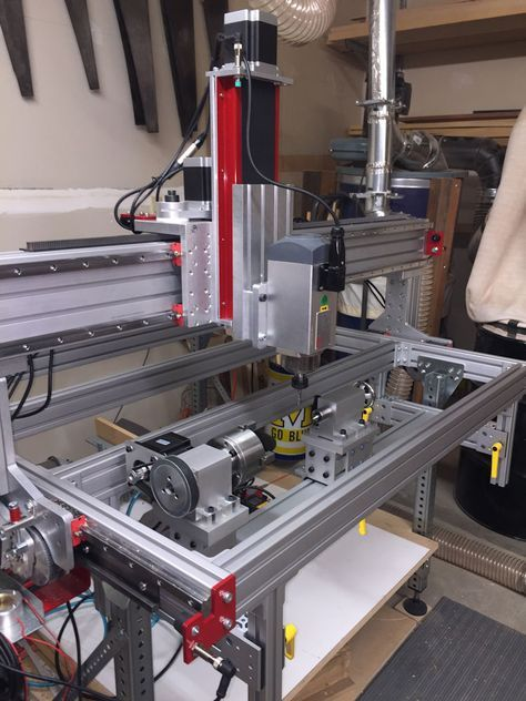 Adding a rotary axis to CNC Router Parts PRO4824 | 3D