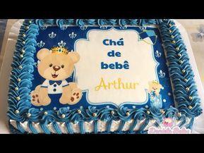 Confeitando Bolo Cha De Bebe Menino Ursinho Principe Youtube