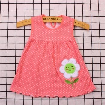 340efee41c275 Happy Smile Flower Applique Dress for Newborn and Baby Girl | Baby ...