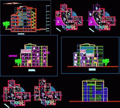 Maison familial dwg AutoCAD and Architecture - plans maisons gratuit logiciel dessin plan maison