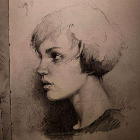 111 besten drawing portrait profile bilder auf pinterest portraits zeichnen skizzen und zeichnen