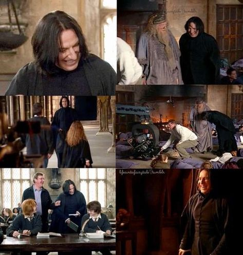 Alan Rickman rarely went out of character as Snape. That fact makes these photos so special. #RIPAlanRickman