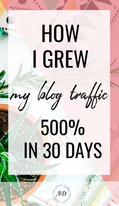 How I Grew My Blog Traffic 500% By Following A Weekly Blogging Schedule - AmintaDemadura.com