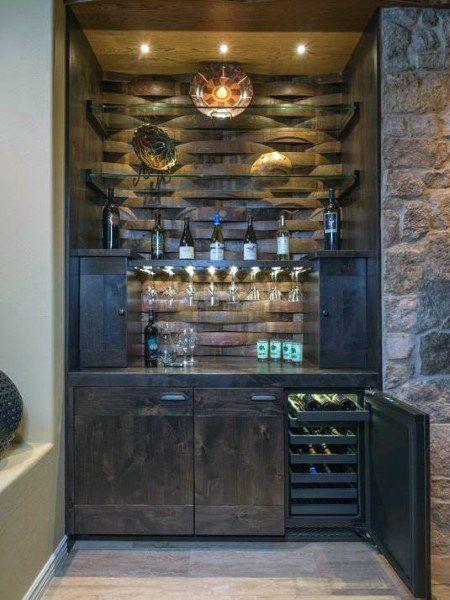 Top 70 Best Home Mini Bar Ideas Cool Beverage Storage Spots