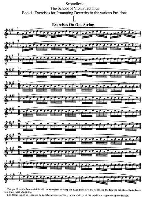 File Pmlp59431 Henry Schradieck School Of Violin Technics Bk 1 Pdf