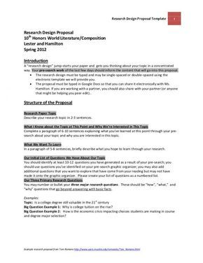 Research Proposal Example Photography Dissertation