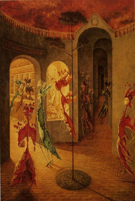 "or the Clockmaker  20/""   Paper Print Repro Varo Remedios  Revelation"