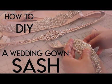 294) How To Make Your Own DIY Bridal Sash Belt, Applique