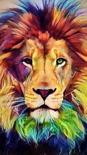 Pin By Sue Townsend On Leao Cat Art Painting Lion Painting Lion Art