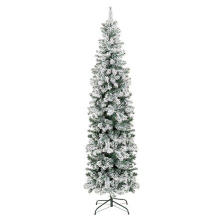 Flocked Pencil Tree From Walmart Pencil Christmas Tree Slim Christmas Tree Cool Christmas Trees