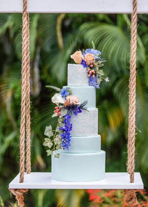 Shades of blue wedding cake by Bake A Wish Cakes! Outdoor Florida wedding ideas! Photography by Love and Serve Photography www.loveandservephotography.com #weddingcakeideas #blueweddingideas #blueweddingcake #outdoorweddingideas #outdoorweddingreception #floridawedding #weddingcakedesigns #weddingcakeideas #weddingcakeinspiration #weddingcakerustic #blueweddingideas #blueweddingtheme #blueweddingcake