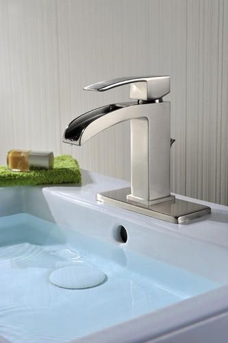 Waterfall Faucet Bathroom Faucets Bathroom Faucets Brushed Nickel Kitchen Faucet Parts