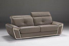 Divano In Pelle Color Tortora.Divano In Pelle Color Tortora Con Poggiatesta Luxury Furniture Sofa
