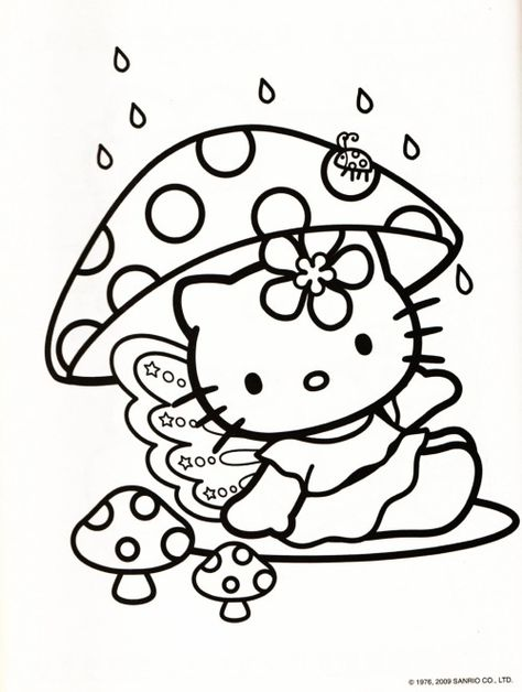Coloriage Hello Kitty en Sirène! Things Miss Nea would like - fresh hello kitty ladybug coloring pages