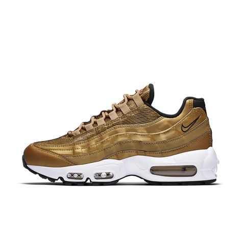 new product 29990 26ddf Nike Air Max 95 QS Womens Shoe Size 6.5 (Gold)