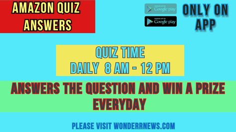 This website provide daily quiz answers. #amazon #amazonquiz #amazonquizanswers