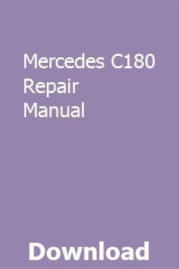 Mercedes C180 Repair Manual Owners Manuals Repair Manuals Honda Type R