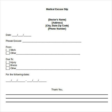 Blank Doctors Note For Missing Work Excuse Doctors Note Template Doctors Note Dr Note For Work