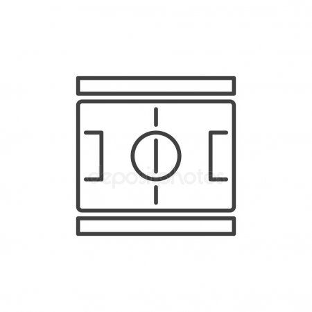 Football Pitch Outline Concept Icon Vector Soccer Field Symbol Stock V Ad Concept Icon Outline Football Ad Football Pitch Outline Pitch