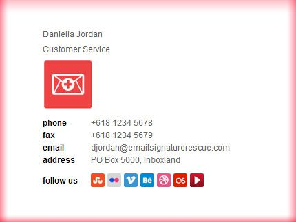 Customer Examples - Email Signature Template with 250x60 Logo - email signature template