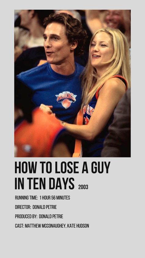 how to lose a guy in ten days minimalist movie poster