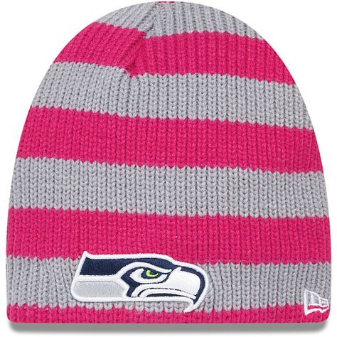 d70eb30674f Women s New Era Seattle Seahawks Breast Cancer Awareness Knit Hat ...