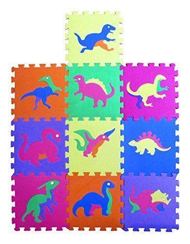 10 Tiles Eva Dinosaur Playmat Kids Safety Play Floor Baby Toddler Activity Mats Kids Toddler Activities Playmat