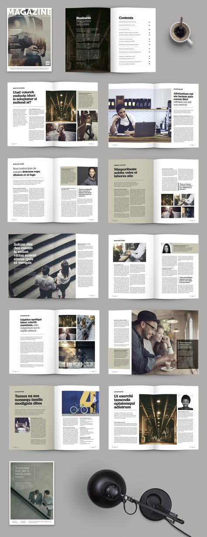 Corporate magazine design template