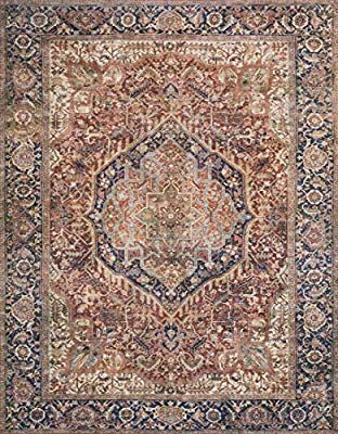 Amazon Com Loloi Ii Layllay 03olcc5076 Layla Collection Area Rug 5 0 X 7 6 Olive Charcoa Kitchen Dining Persian Area Rugs Area Rugs Rugs