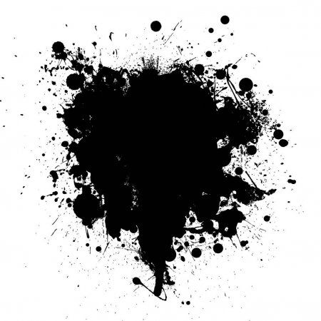 Abstract Black Ink Grunge Splat With Room For Your Text Stock Illustration Paint Splash Background Light Background Images Black Background Images