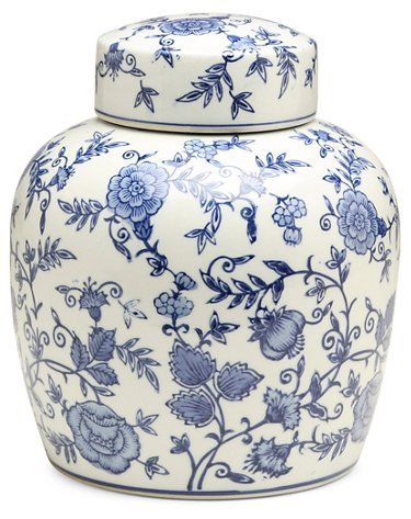 10 Arundel Round Ginger Jar Blue White Decorative Jars Canisters Vases Jars Home Accents In 2020 Ginger Jars Blue And White Wallpaper Blue And White Vase