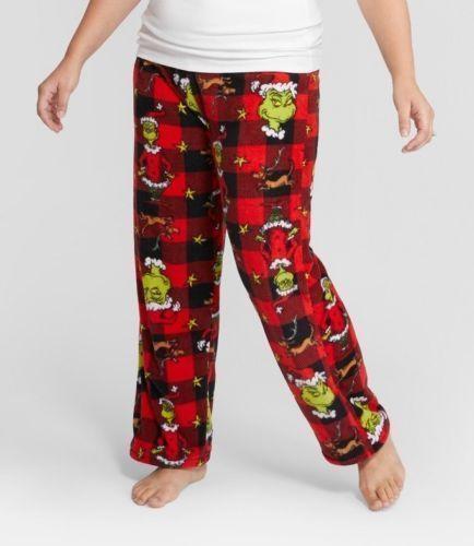 The Grinch Fleece SLEEP LOUNGE PANTS Size Small NWT